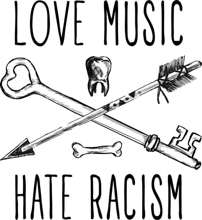 love music hate racism back