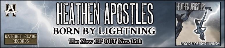 heathen apostles born by lightning banner